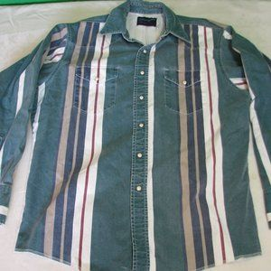 Vintage Wrangler Striped Pearl-Snap Shirt